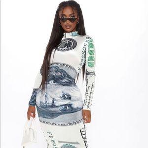 💄Sexci XL Velvet Money Dress Def a Show Stopper💋